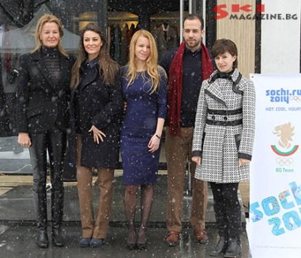 Председателя на БОК Стефка Костадинова и олимпийската ни шампионка Катя Дафовска присъстваха на ревюто. Снимки: BGLive/SkiMag