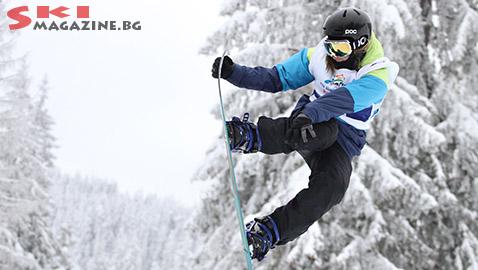 Победителката при жените Клара Яникова. Снимки: Николай Дончев BGLive/SkiMag