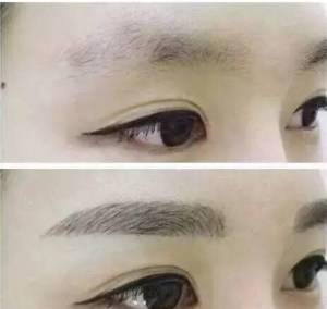 BEFORE AND AFTER BROW MICROBLADING