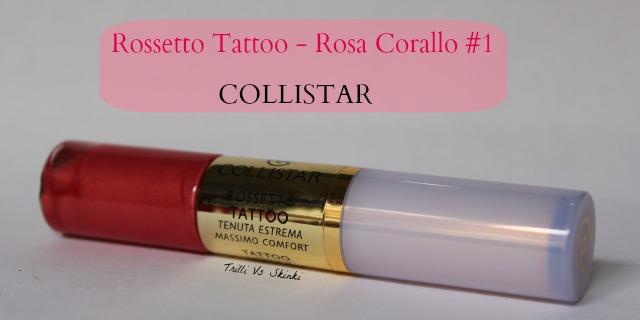 Rossetto tattoo rosa corallo