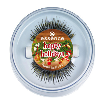 false lashes happy holidays