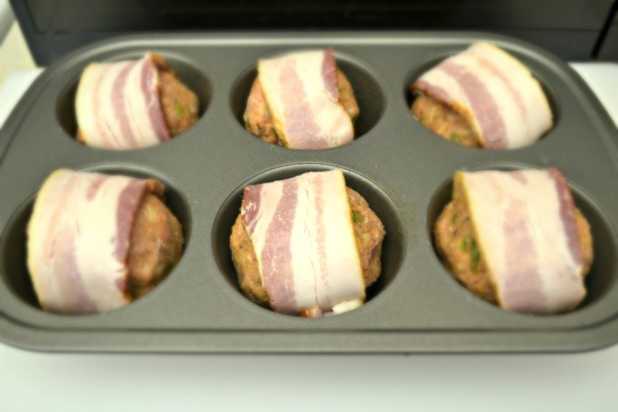 Bacon Wrapped Turkey Meatballs