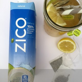 Coconut Water, Lemon and Green Tea Drink
