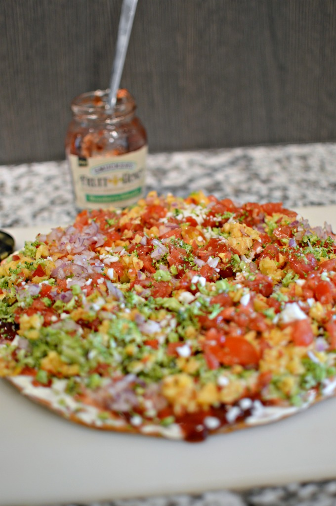 Vegetable Pizza with Smucker's Fruit & Honey Strawberry Jalapeno Fruit Spread