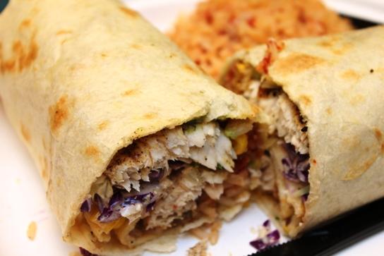 Grilled Mahi Mahi Burrito.