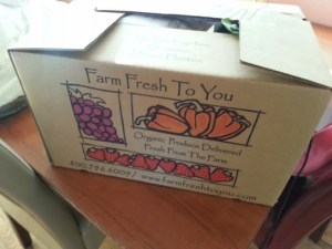 Box of Organic Veggies