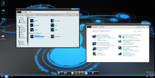 81 Blue Alienware Skin Pack