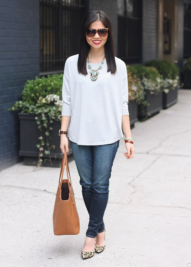 Casual Outfit + Statement Necklace