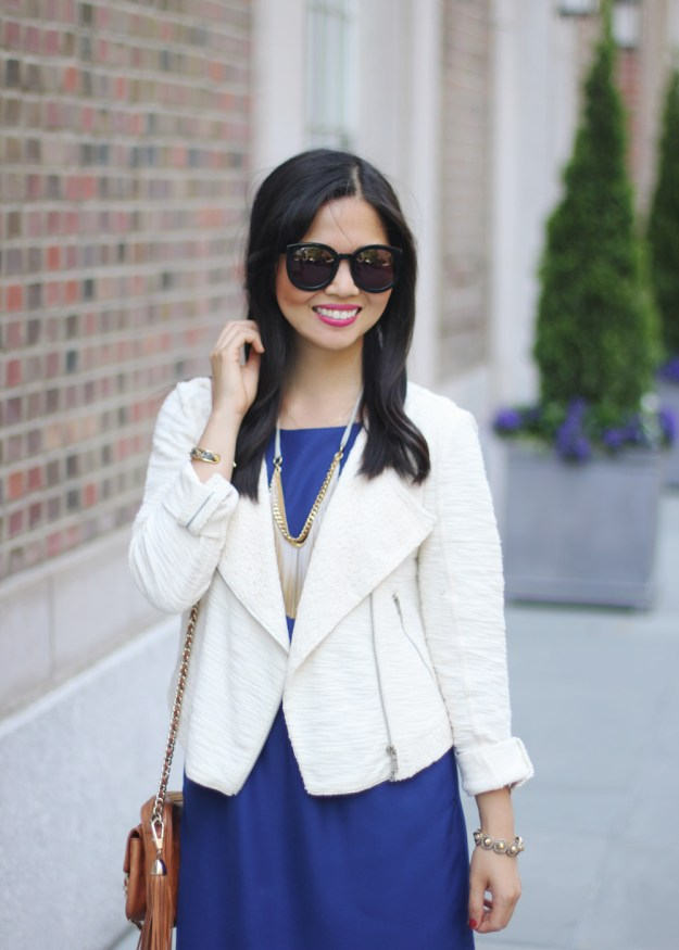 Cream Lace Moto Jacket