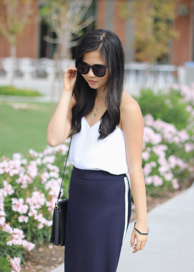 Black, White & Navy Outfit