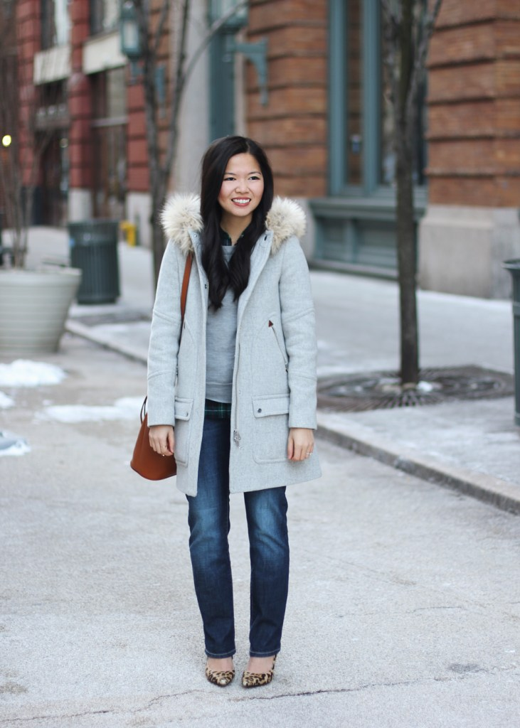 Skirt The Rules // J.Crew Chateau Parker Coat in Gray