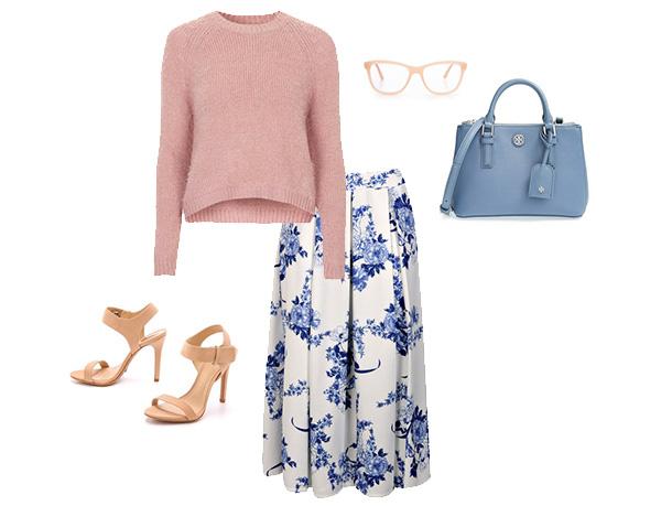 Skirt The Rules // Floral Midi Skirt