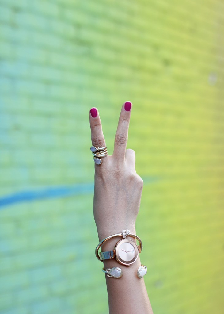 Skirt The Rules // Rainbow Wall