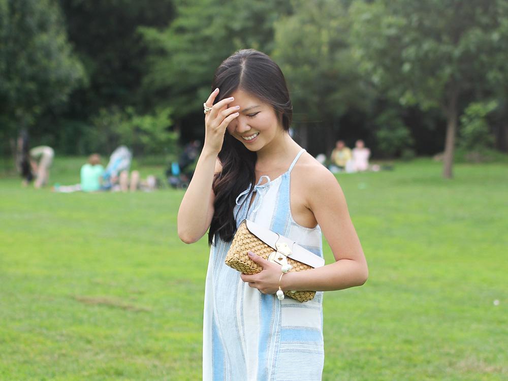 Lou & Grey Hacienda Cutaway Striped Dress