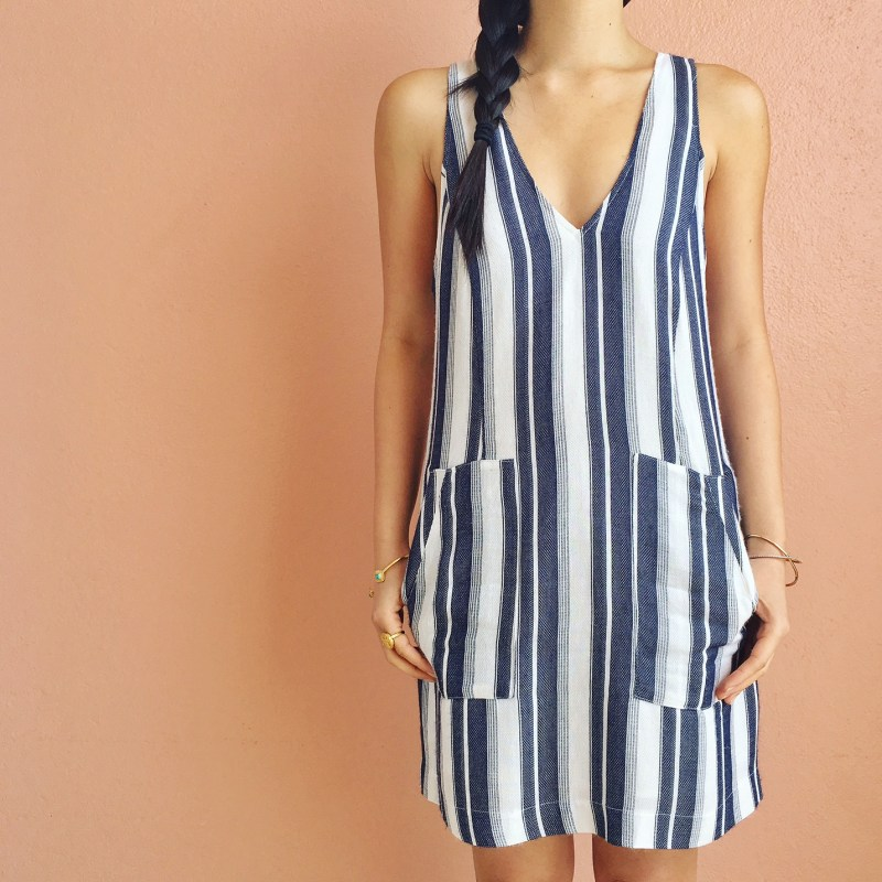 Skirt The Rules / Casual Striped Dress with Pockets