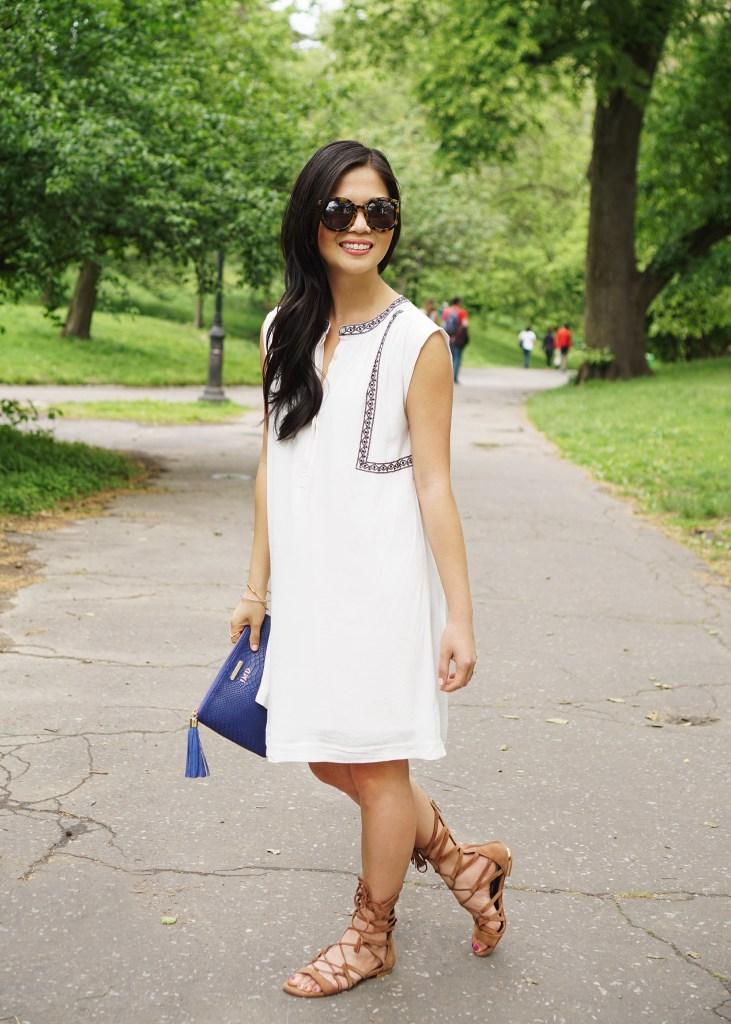Skirt The Rules / White Dress & Gladiator Sandals