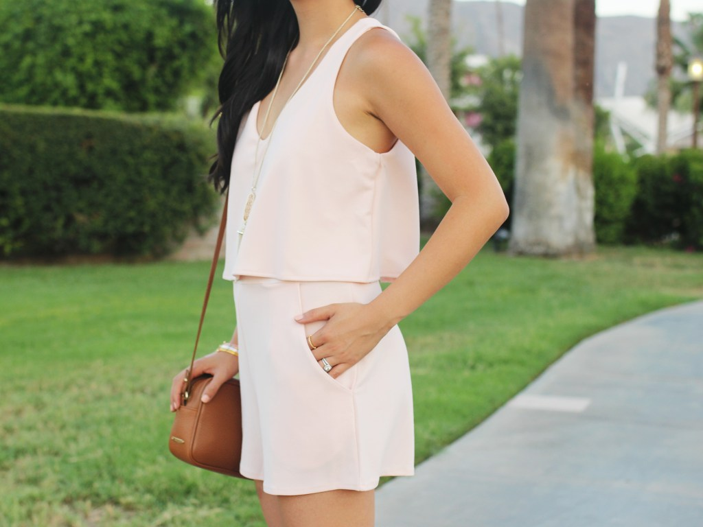 Pale Pink Romper with Pockets