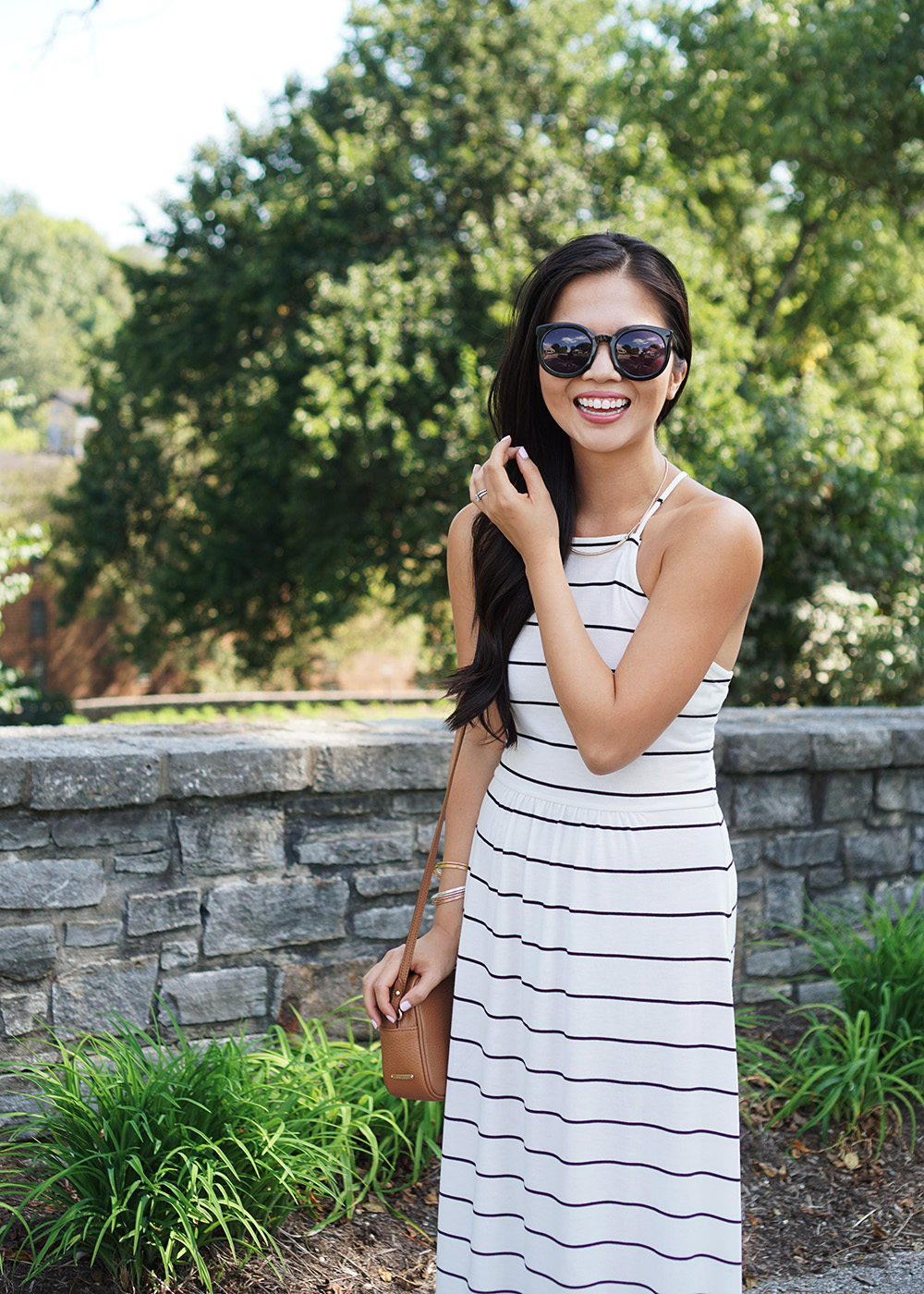 Casual Style: Black & White Striped Dress