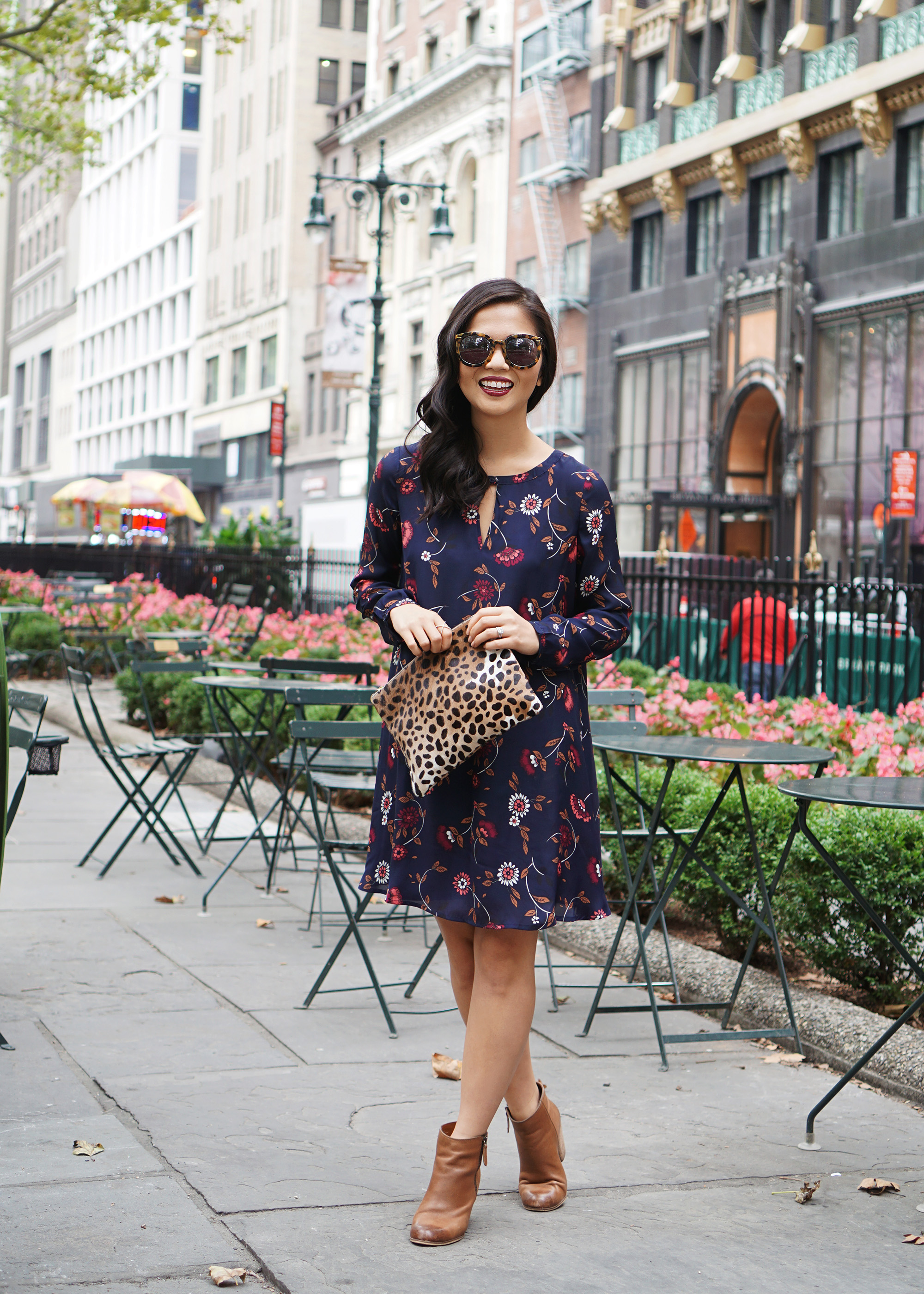 Skirt The Rules / Fall Floral Swing Dress