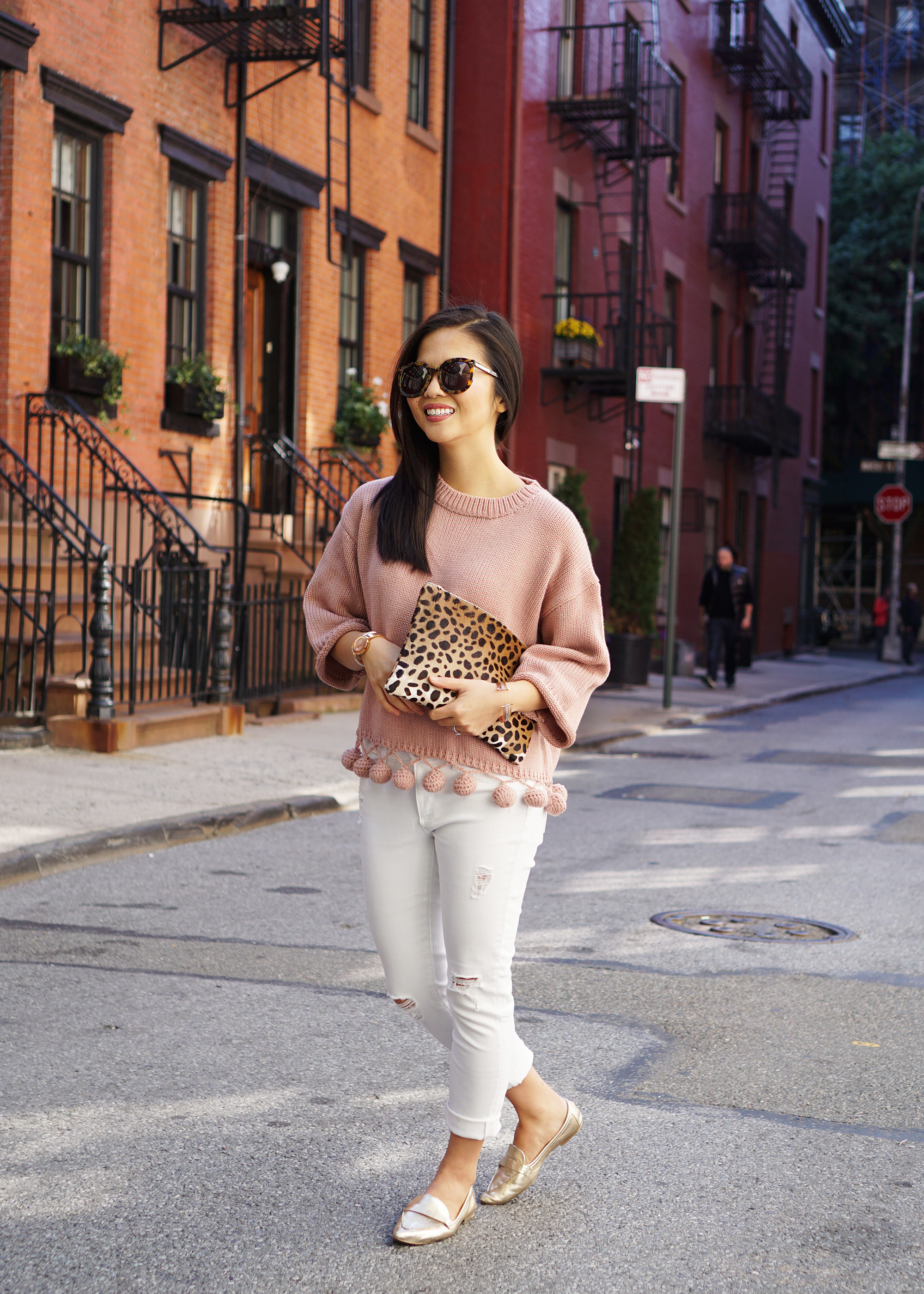 Skirt The Rules / Pink Pom Pom Sweater