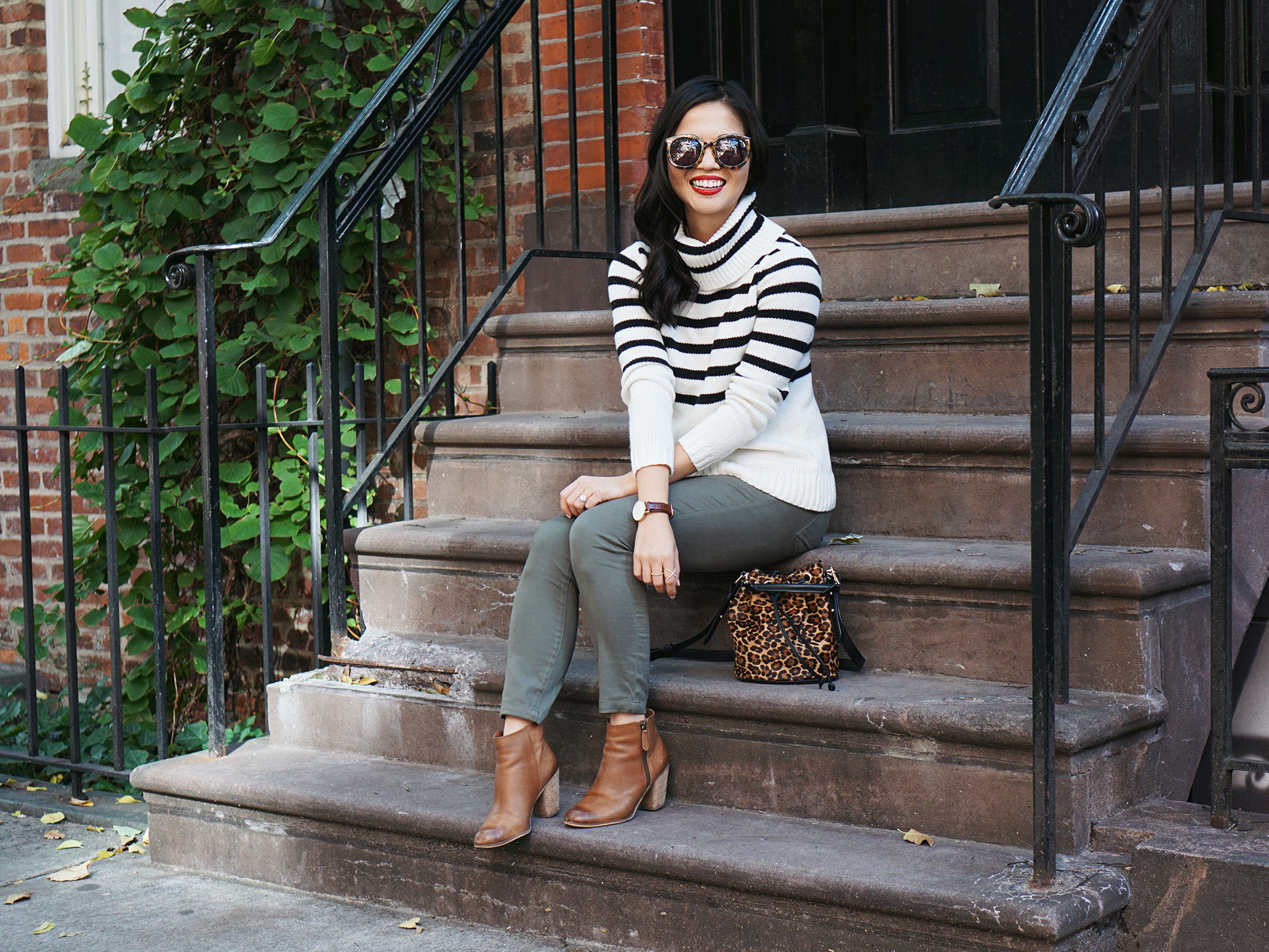 Must Have Sweater: Striped Turtleneck