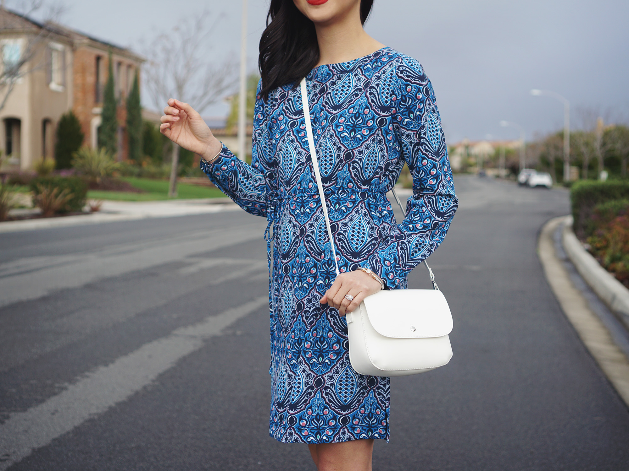 Skirt The Rules / Blue Printed Shirtdress