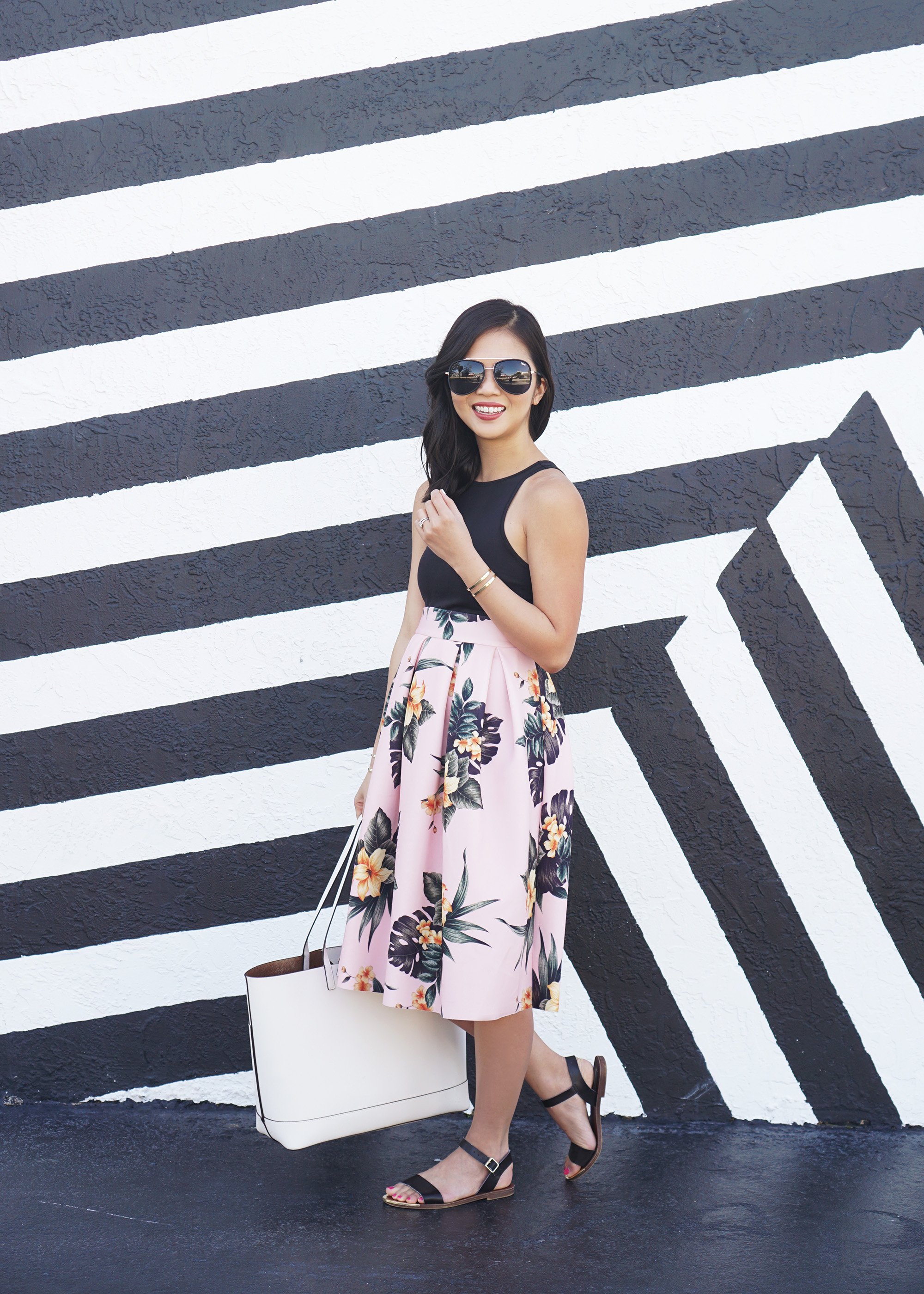Skirt The Rules / Floral Print Midi Skirt