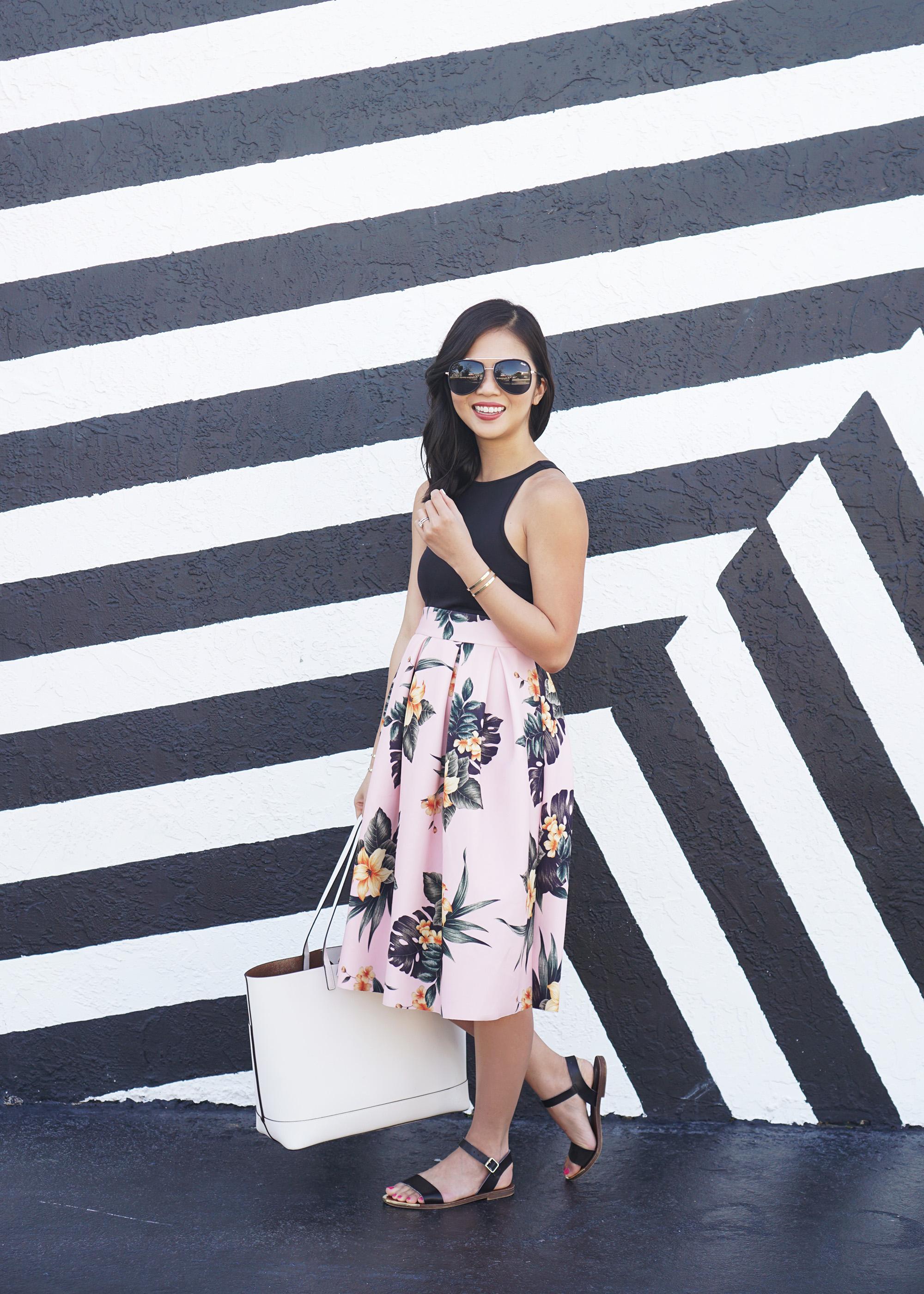 Skirt The Rules / Floral Print Midi Skirt
