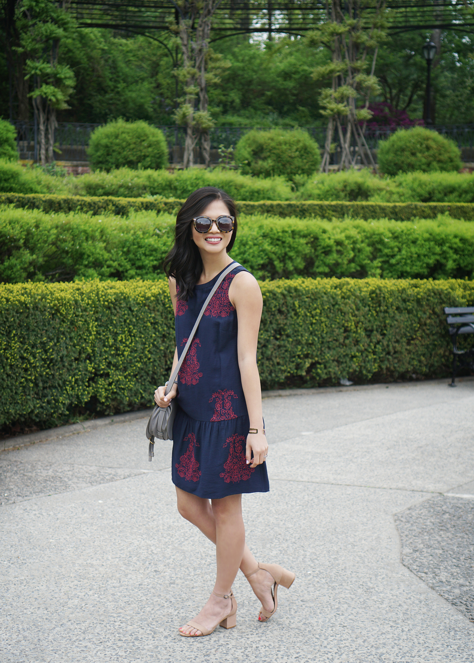 Skirt The Rules / Navy Dropwaist Dress