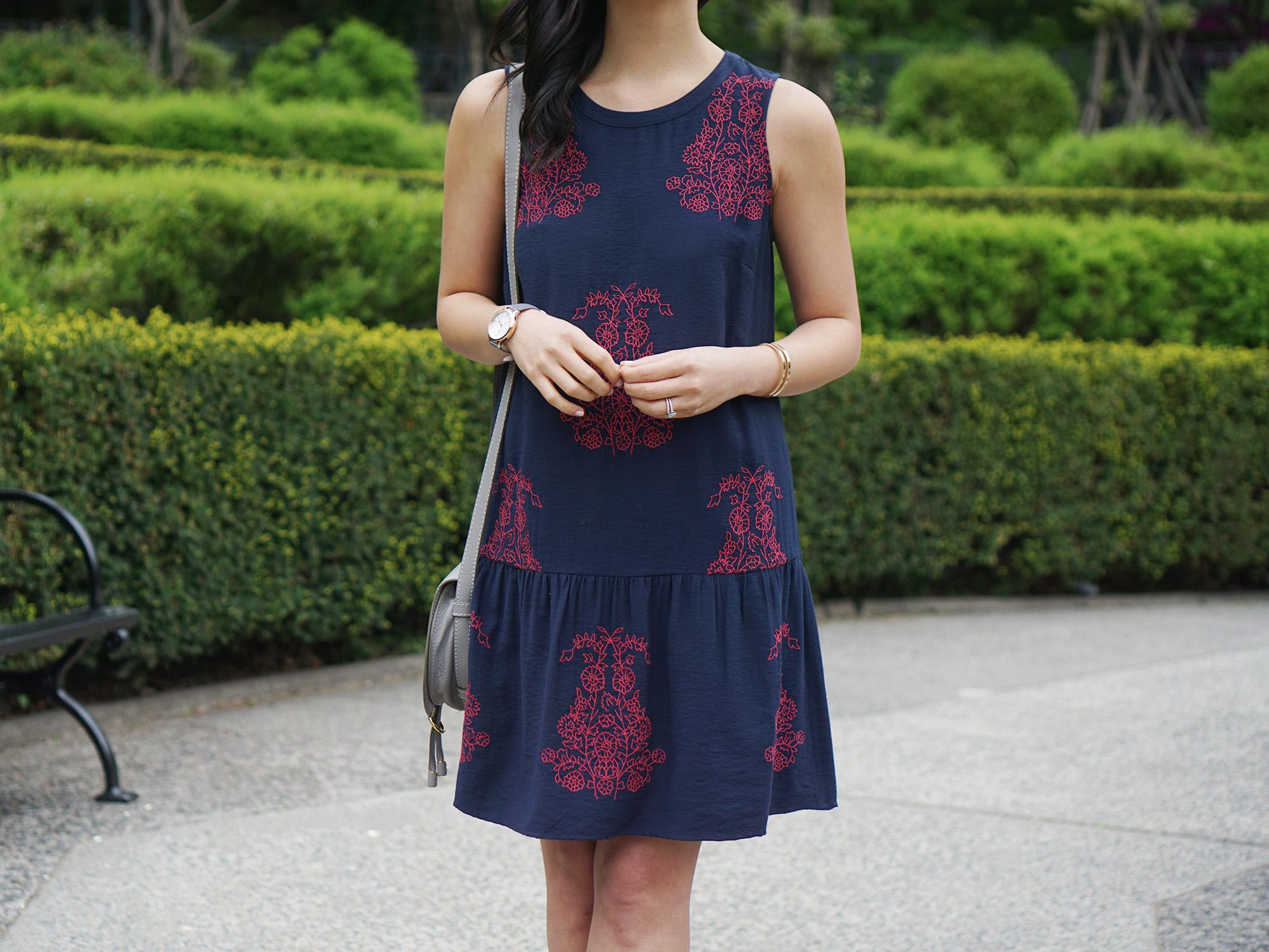 Skirt The Rules / Navy Dropwaist Dress