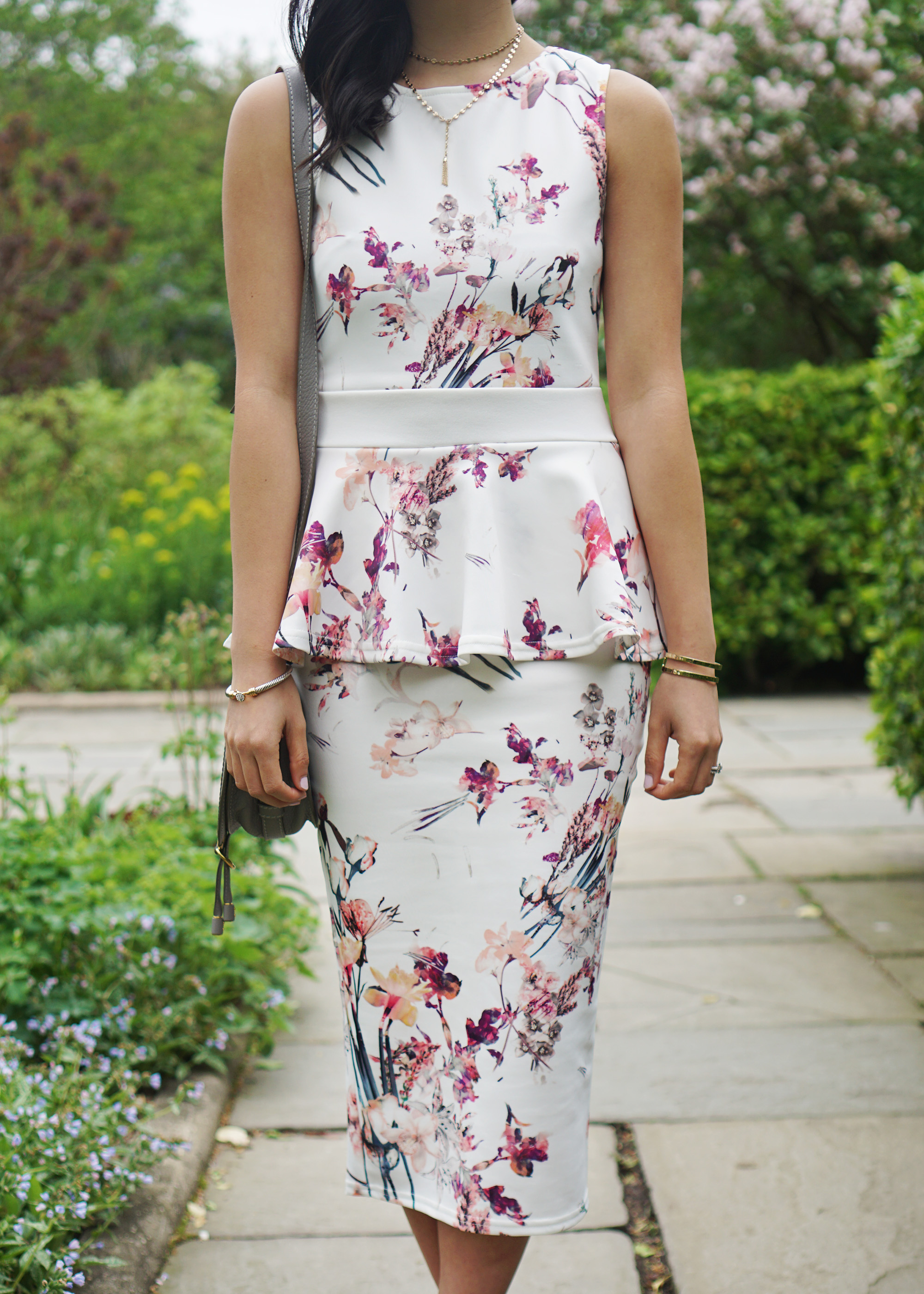 Skirt The Rules / Floral Peplum Dress