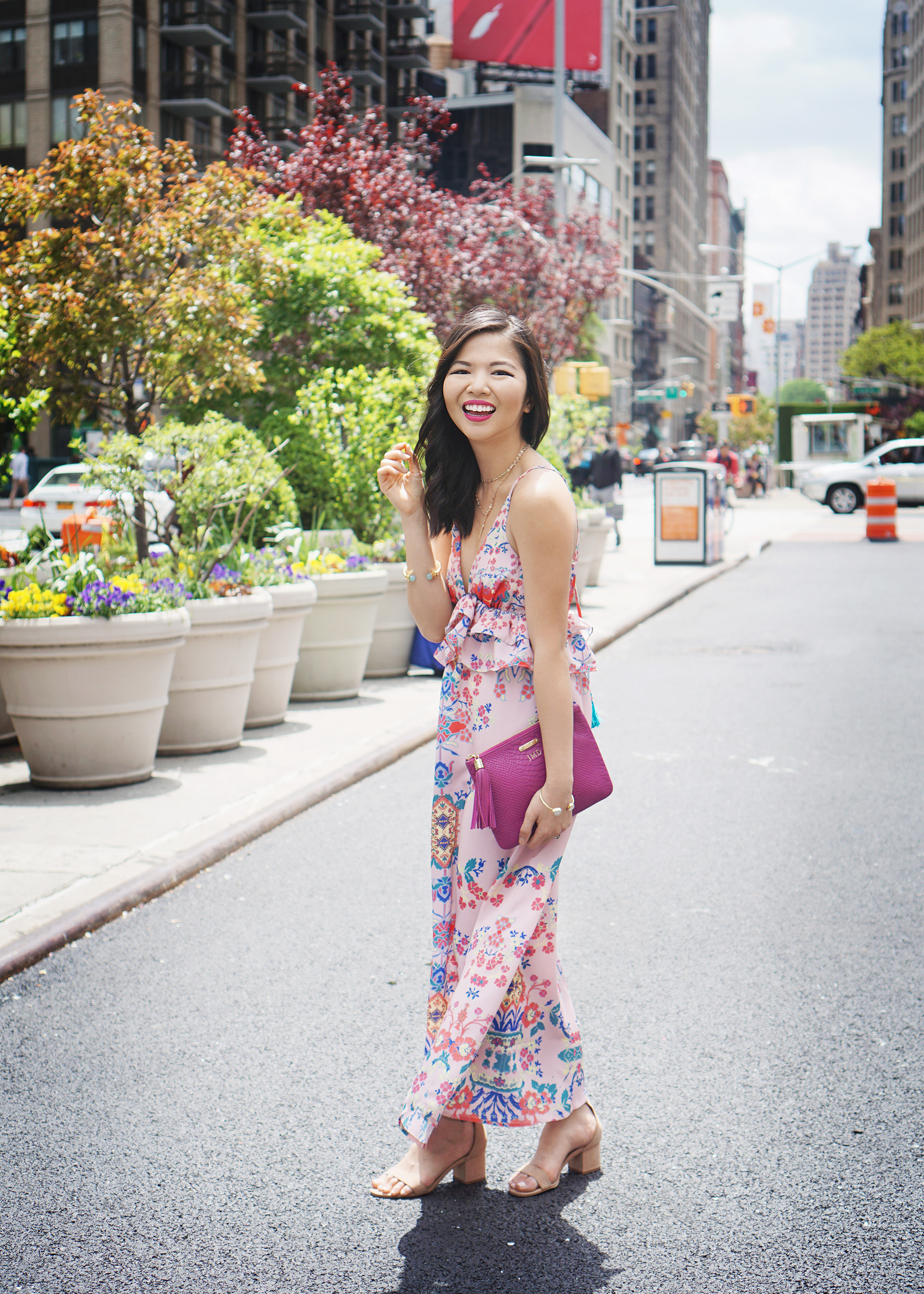 Skirt The Rules / Pink Peplum Maxi Dress
