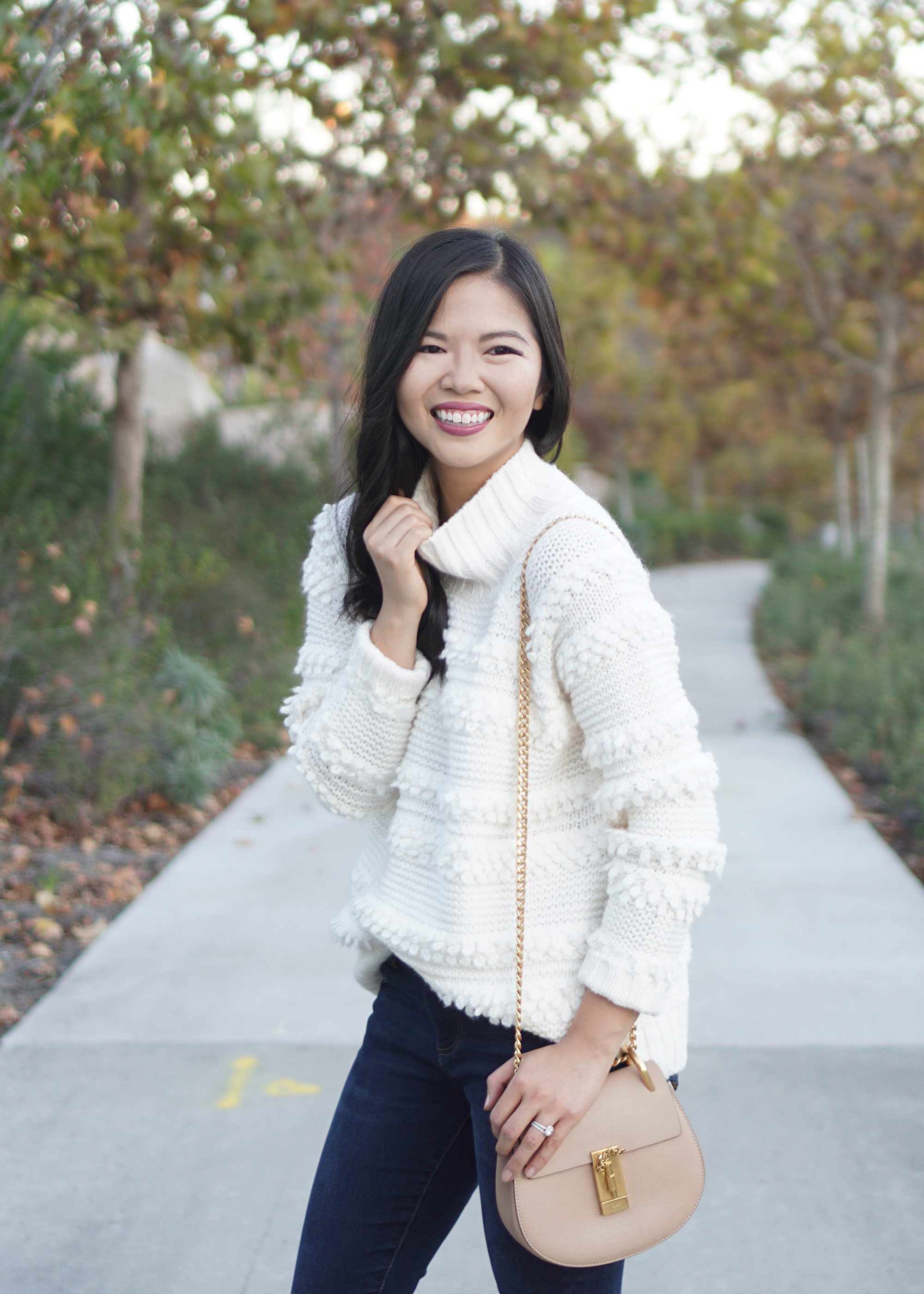 Skirt The Rules Lou and Grey Cream Fringe Sweater 1