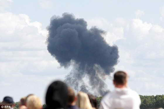 Крушение самолета СУ-27