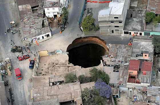 Самые большие дыры на Земле