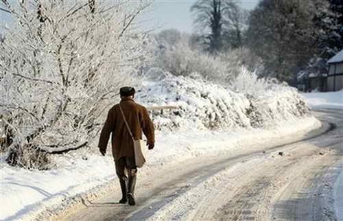 В Бенсоне, Великобритания, мороз