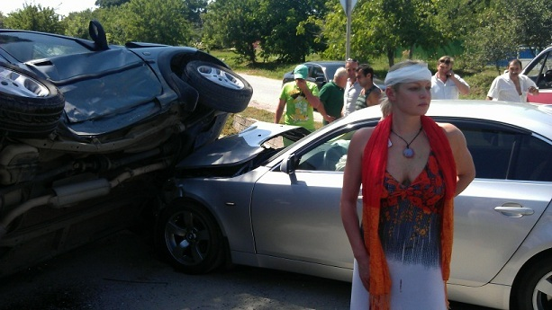 Анастасия Волочкова авария