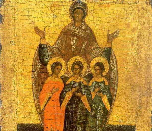 Вера, Надежда, Любовь и матерь их София икона