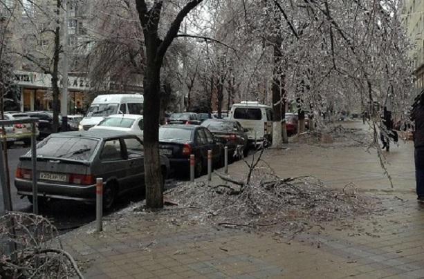 Краснодар ледяной дождь 2014. Фото