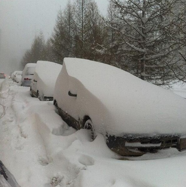 Снегопад в Челябинске