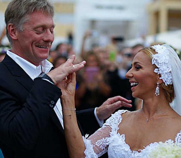 Навка и Песков, фото со свадьбы