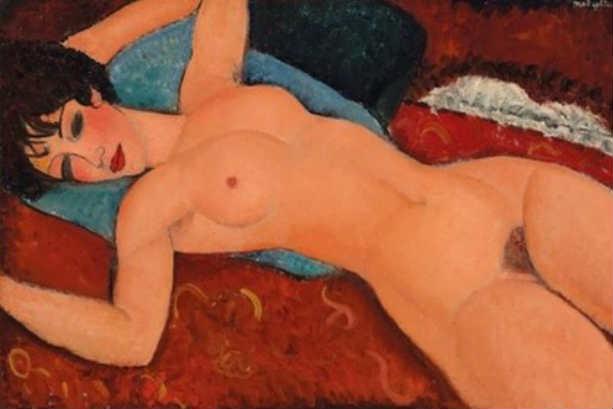 Лежащая обнаженная картина Амедео Модильяни