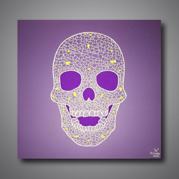 Images Produits - Skull face purple