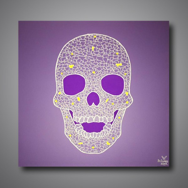 Images Produits - Skull face purple