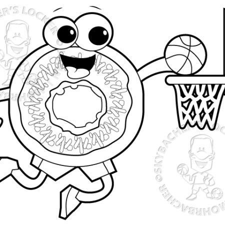 dunking donut free coloring page - Donuts Coloring Pages