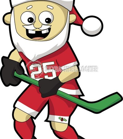 santa, hockey, hockey santa cartoon