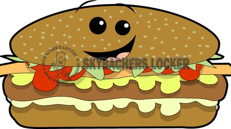 cheeseburger clipart, hamburger cartoon