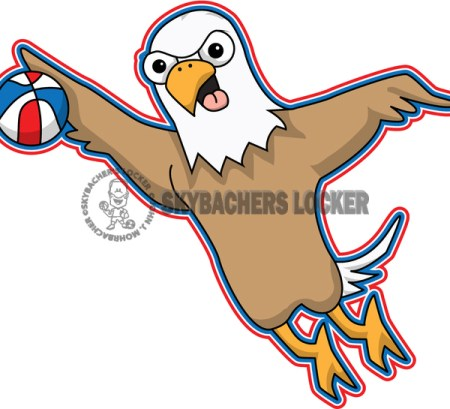 Flying Eagle Basketball Mascot - Skybacher's Locker