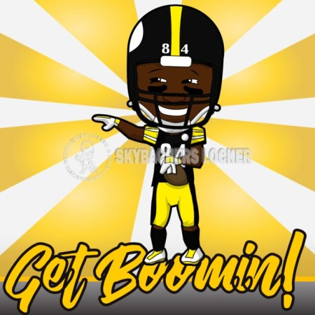 Antonio Brown – Get Boomin Poster - Skybacher's Locker