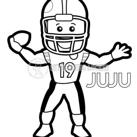 Juju Smith-Schuster Coloring Page - Skybacher's Locker